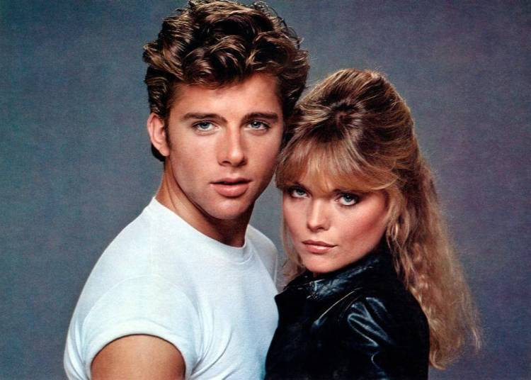Maxwell Caulfield and Michelle Pfeiffer in Grease 2