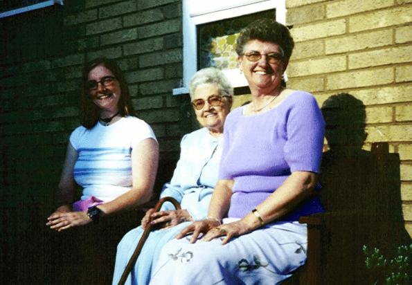 Me, Grandma and Mum - in May 2000
