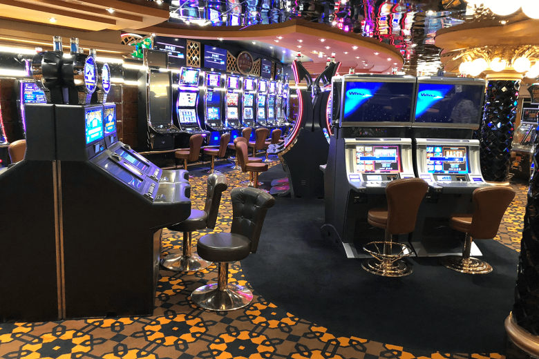 The on board casino where smoking is allowed