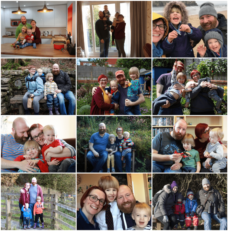 A year of family portraits in 2017