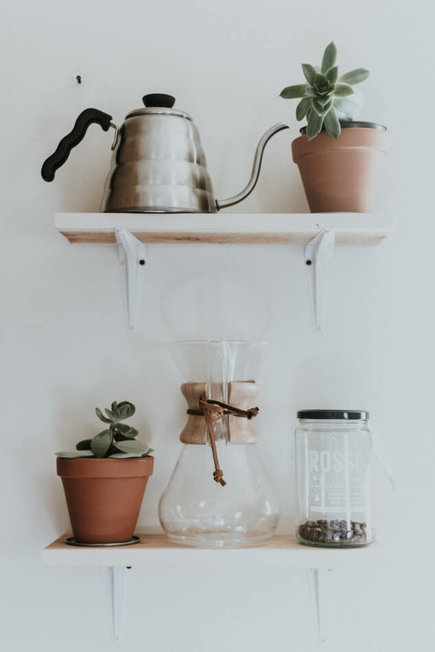 Shelves are a great way to create more storage space