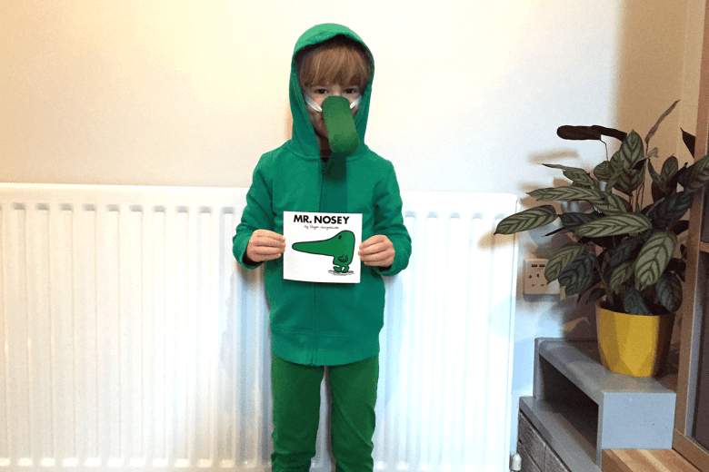Toby in his Mr Nosey costume for World Book Day
