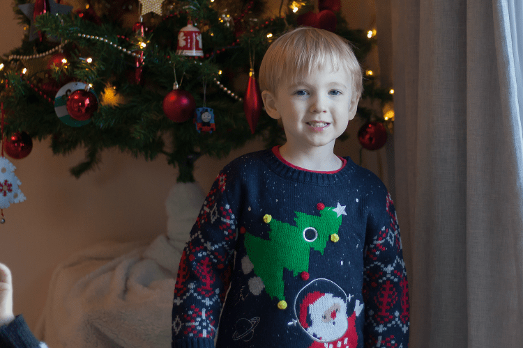 Gabe in his Christmas jumper