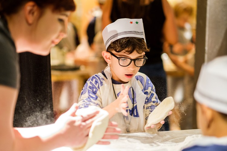 Fun pizza making at Pizza Express