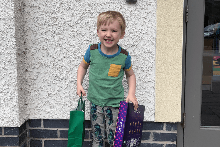 Gabe on his last day at nursery