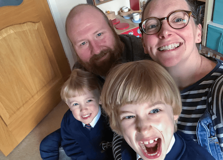 Mum, Dad and two boys - a family portrait