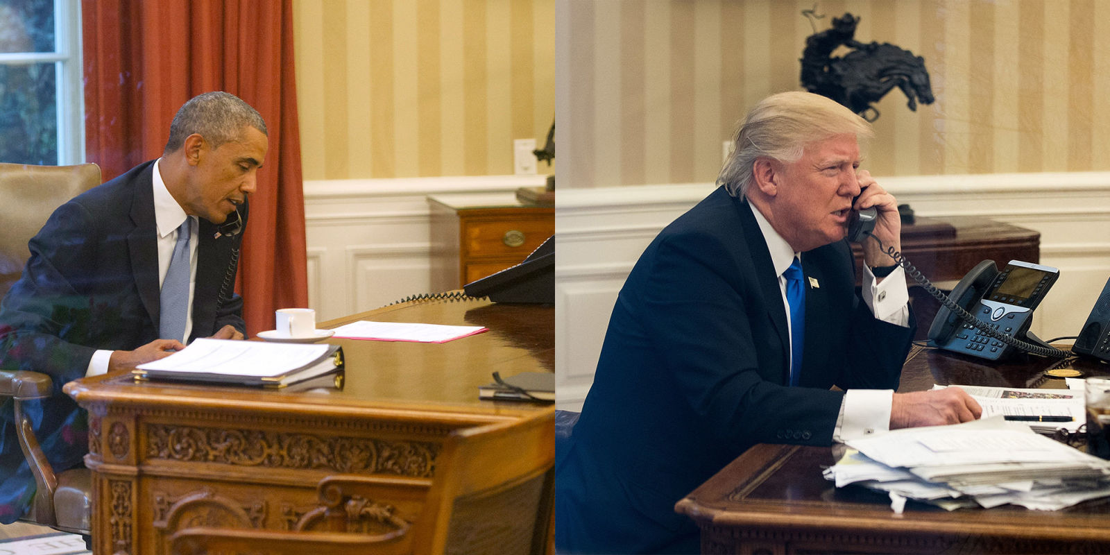 Dtrump His Messy Desk