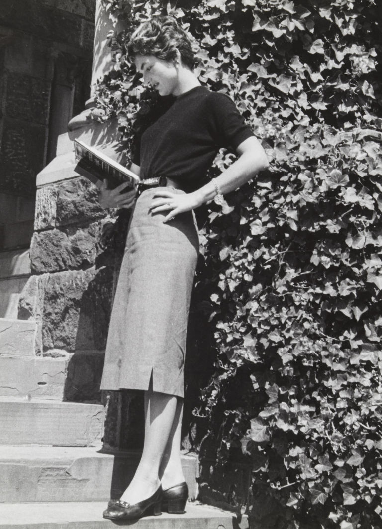 Jackie Kennedy at Georgetown University in May, 1954