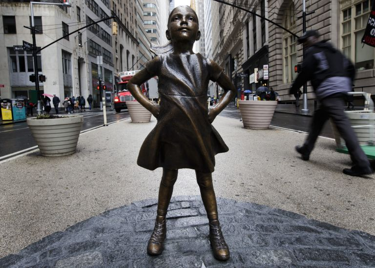 Image result for Wall Street's 'Fearless Girl' statue