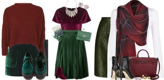 Какие цвета сочетаются с темно зеленым в одежде фото ...