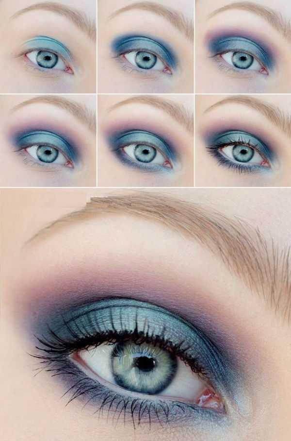 Макияж голубых глаз фото пошаговое – Макияж Для Голубых ...