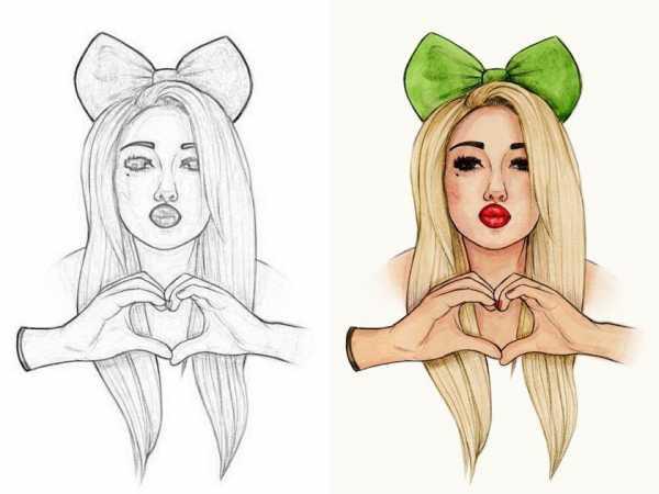 Простые рисунки девочек – рисунки и картинки карандашом ...