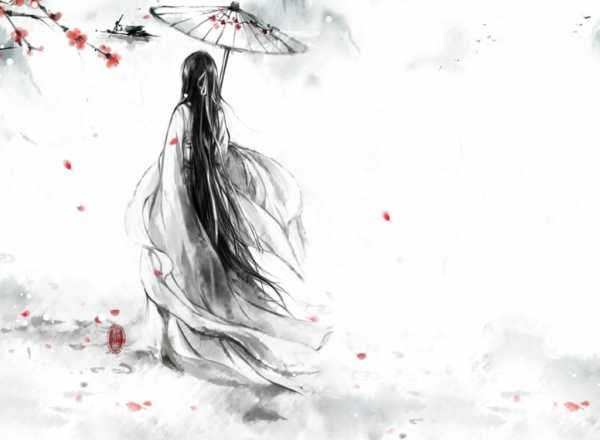 Рисунок девочка с длинными волосами – Ой!