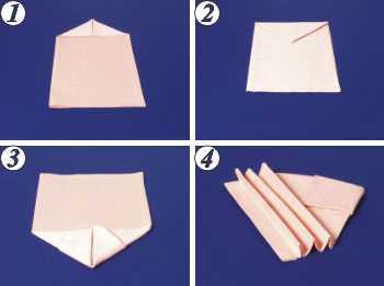 Сложение салфеток для сервировки стола – 10 способов ...