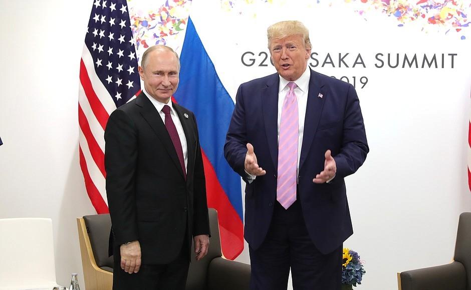 Встреча Путина и Трампа на G-20 в Осаке\ фото - пресс-служба Кремля