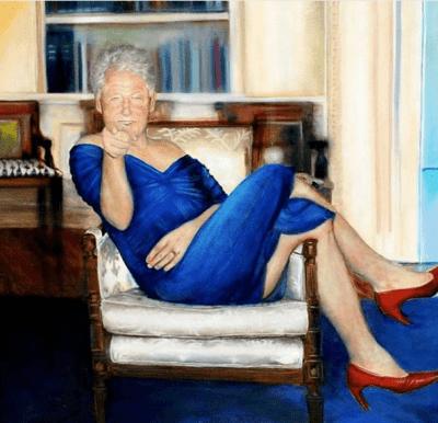 Билл Клинтон обнаружен в женском платье и туфлях