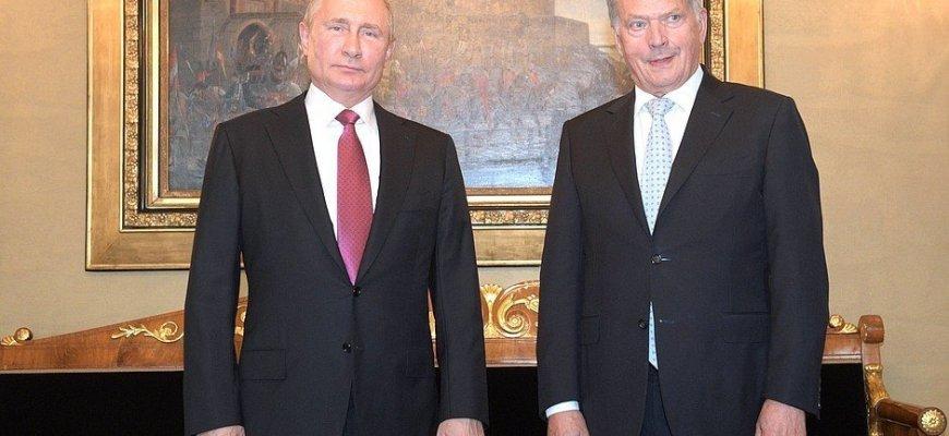 Владимир Путин с Президентом Финляндии Саули Ниинистё\ фото - пресс-служба Кремля