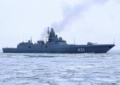 Новейший фрегат «Адмирал Касатонов» вышел в Белое море на испытания