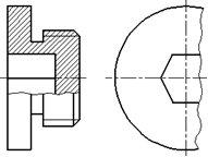 Рисунок 22 - Примеры совмещения части вида и разреза