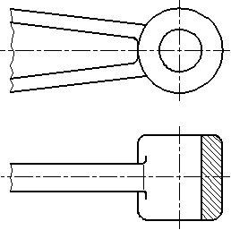 Рисунок 23 - Примеры совмещения части вида и разреза