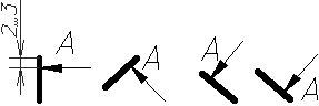 Рисунок 24 - Примеры обозначения разреза