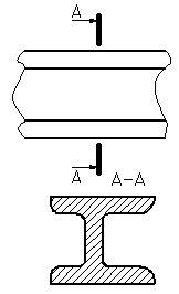 Рисунок 31 - Пример изображения вынесенного сечения