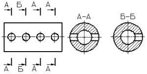 Рисунок 32 - Пример обозначения сечений