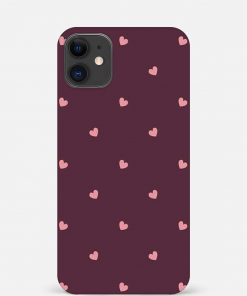 Pink Hearts iPhone 12 Mini Mobile Cover