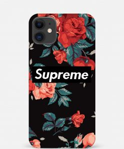 Supreme With Vibrant Roses iPhone 12 Mini Mobile Cover