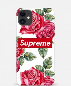 Supreme With Red Roses iPhone 12 Mini Mobile Cover