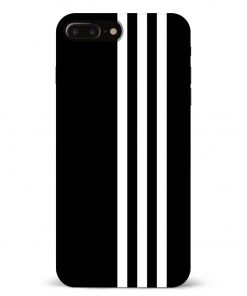 White Stripe iPhone 8 Plus Mobile Cover