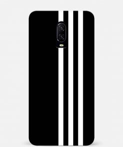 White Stripe Oneplus 7 Mobile Cover