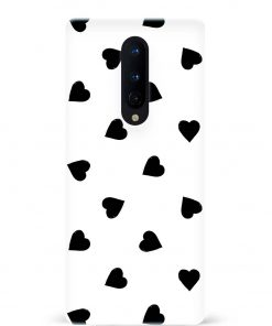 Big Black Hearts Oneplus 8 Mobile Cover