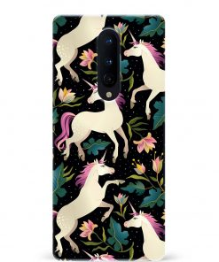 Floral Unicorn Oneplus 8 Mobile Cover