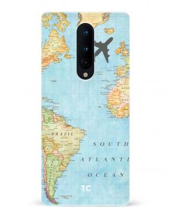 Map Oneplus 8 Mobile Cover
