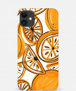 Orange Doodle iPhone 12 Mini Mobile Cover