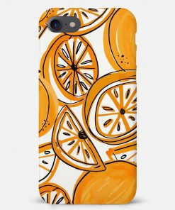 Orange Doodle iPhone 8 Mobile Cover