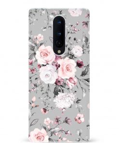 Vintage Floral Oneplus 8 Mobile Cover
