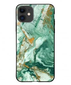 Green Paint iPhone 12 Glass Case Cover