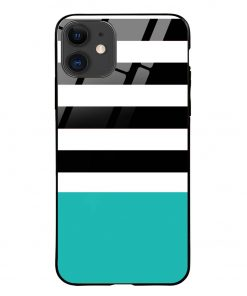 Half Stripes iPhone 12 Glass Case Cover