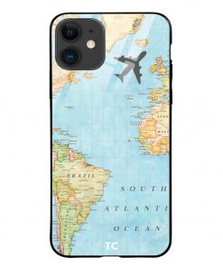 Map iPhone 12 Glass Case Cover