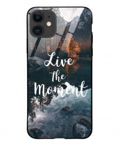 Live The Moment iPhone 12 Glass Case Cover