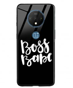 Boss Babe Oneplus 7T Glass Case Cover
