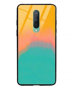 Color Gradient Oneplus 8 Glass Case Cover