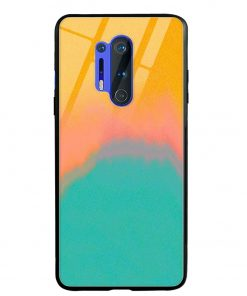 Color Gradient Oneplus 8 Pro Glass Case Cover