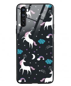 Fantasy Unicorns Oneplus Nord Glass Case Cover