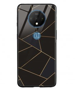 Golden Lines Oneplus 7T Glass Case Cover