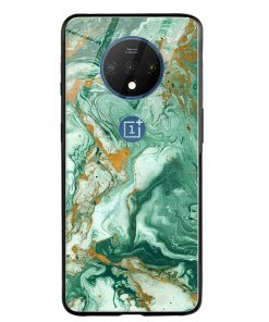 Green Paint Oneplus 7T Glass Case Cover