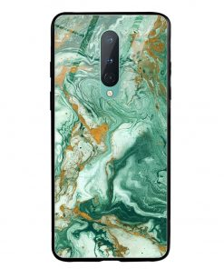 Green Paint Oneplus 8 Glass Case Cover