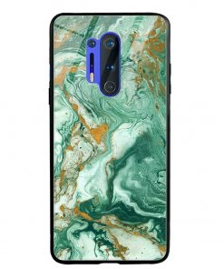 Green Paint Oneplus 8 Pro Glass Case Cover